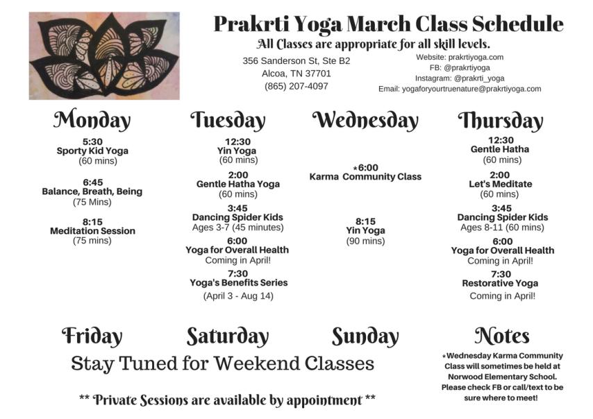 Prakrti Yoga Class Scedule (3)